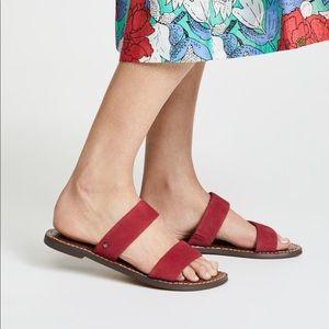 Sam Edelman Gala Red Strappy Sandals—7.5